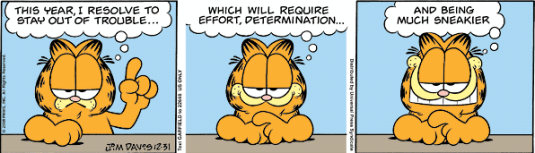 Garfield's new year resolution